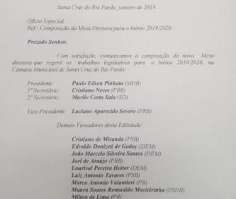 DOCUMENTOS DO LEGISLATIVO: TERMO DE POSSE E COMPOSIÇÃO DA MESA